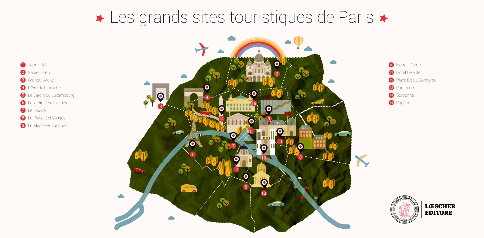 Chiara Alduini: Illustration: Top 15 Places to Visit in Paris