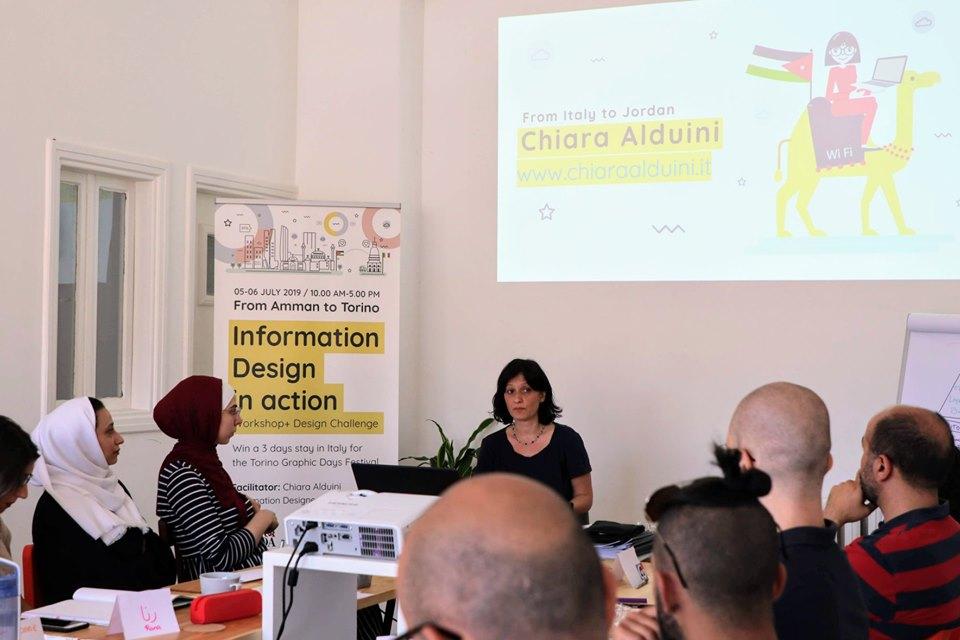 Information Design Workshop in Amman by Chiara Alduini